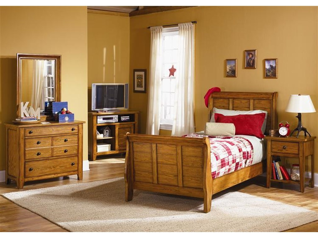 Liberty Furniture Grandpa's CabinTwin Sleigh Bed