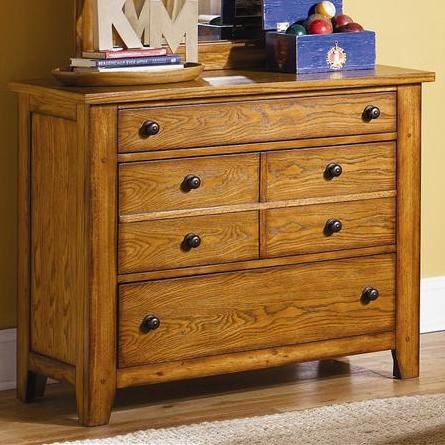 Casual Three Drawer Dresser