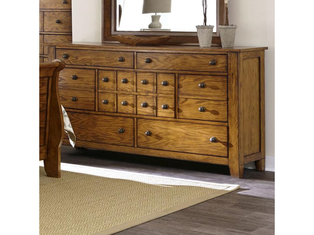 Liberty Furniture Grandpa's Cabin7 Drawer Dresser
