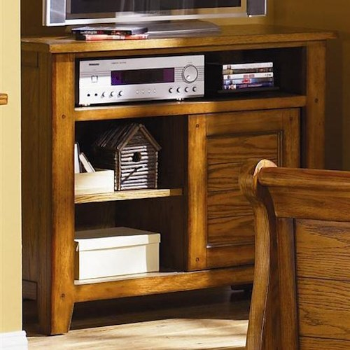 Liberty Furniture Grandpa's Cabin Casual Media Chest with Sliding Door