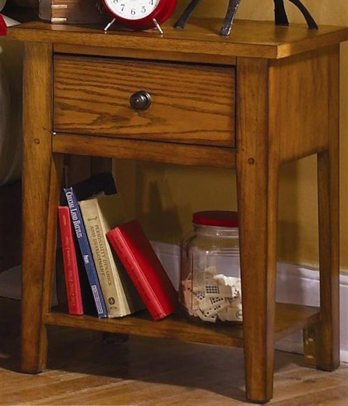 Liberty Furniture Grandpa's Cabin Casual Nightstand with One Drawers