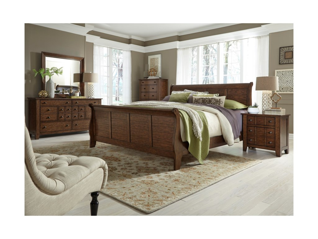 Liberty Furniture Grandpa's CabinKing Sleigh Bed