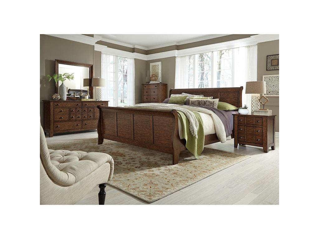 Liberty Furniture Grandpa's CabinQueen Sleigh Bed