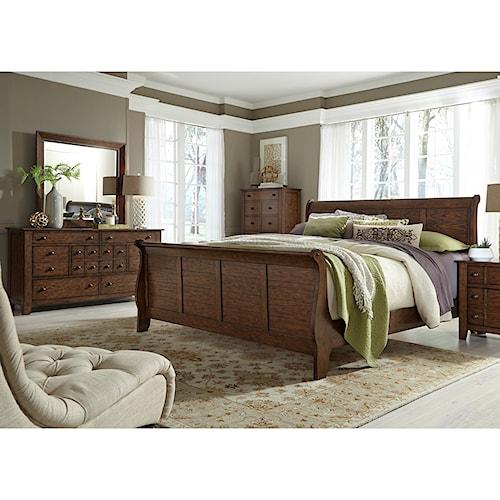 Liberty Furniture Grandpa's Cabin Queen Bedroom Group