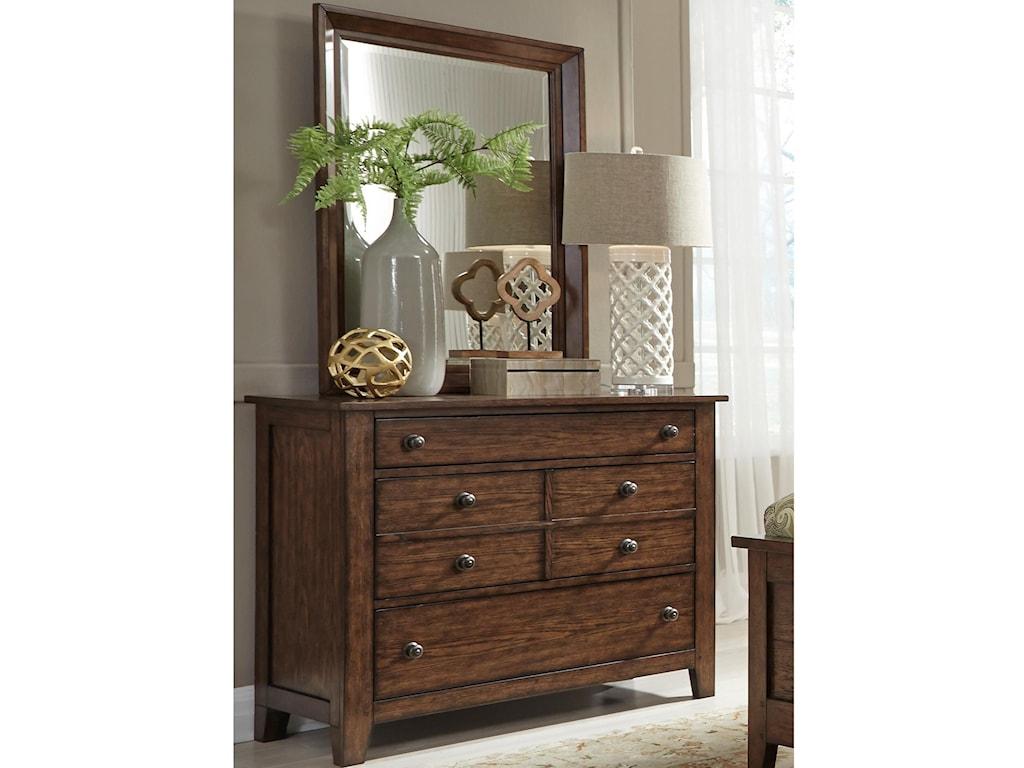 Liberty Furniture Grandpa's CabinDresser & Mirror