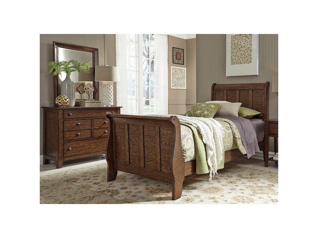 Liberty Furniture Grandpa's CabinFull Sleigh Bed