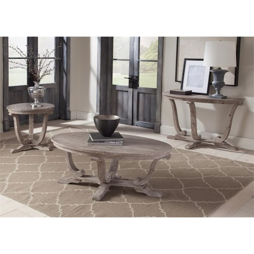 Liberty Furniture Greystone Mill Transitional 3 Piece Occasional Set