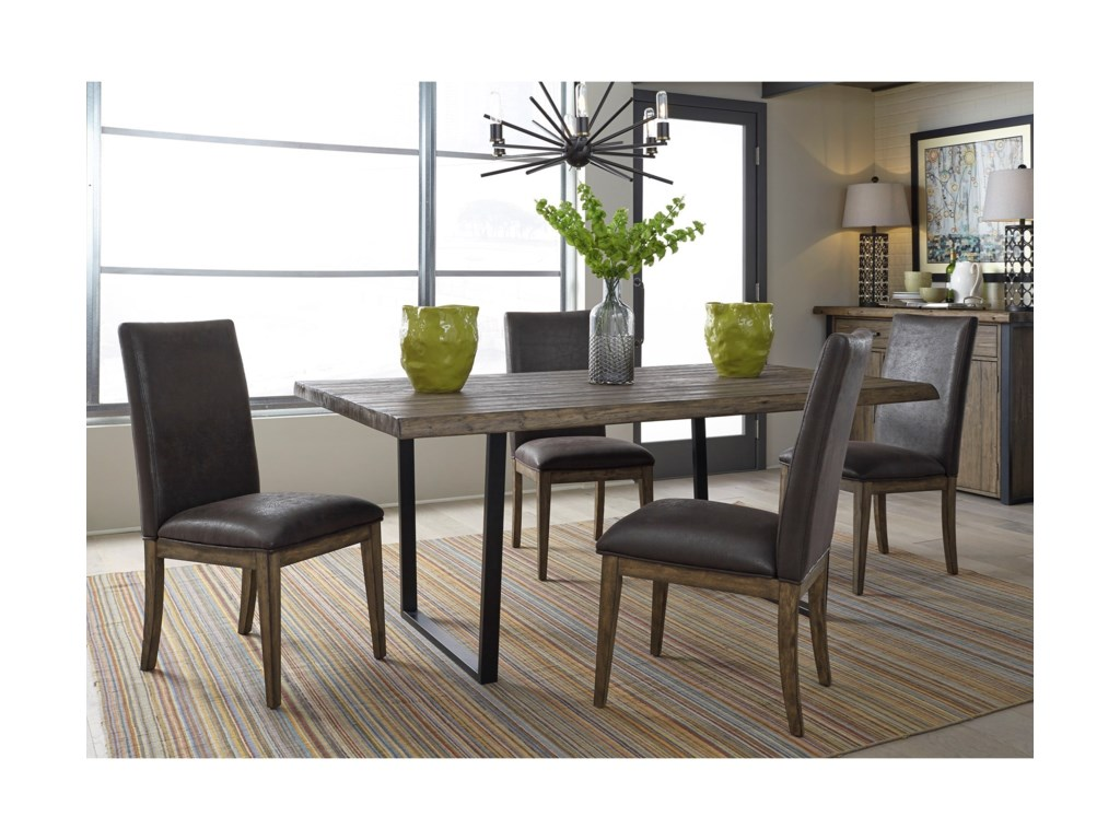 Liberty Furniture Haley Springs5 Piece Trestle Table Set