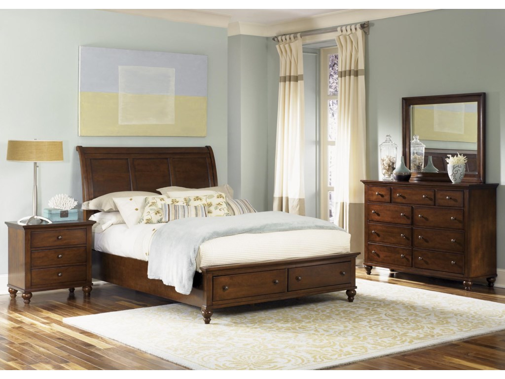 Liberty Furniture Hamilton King Sleigh Bed with Storage Footboard
