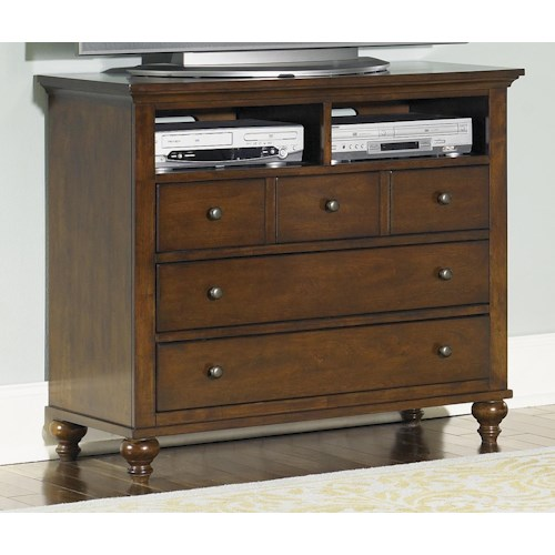 Liberty Furniture Hamilton  Transitional Media Chest with 5 Drawers