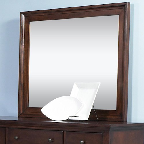 Liberty Furniture Hamilton  Transitional Landscape Mirror with Beveled Glass