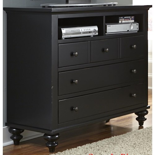 Liberty Furniture Hamilton III Transitional Media Chest with 5 Drawers