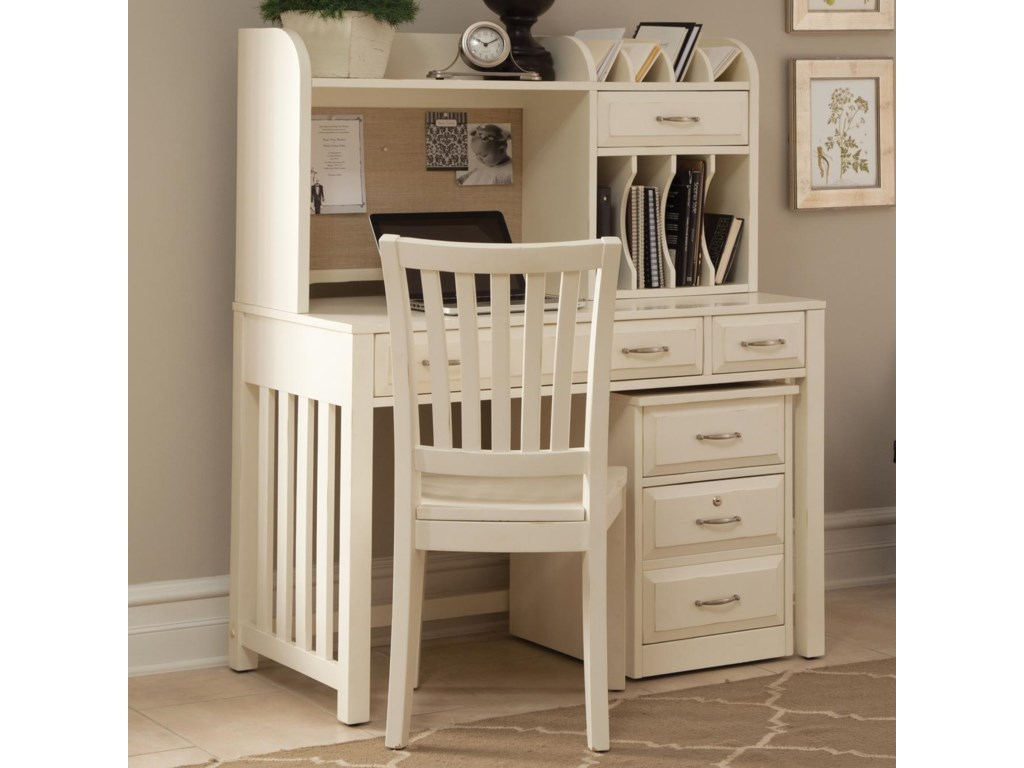 bad08516721e4 Liberty Furniture Hampton Bay - White Home Office Desk with Hutch ...