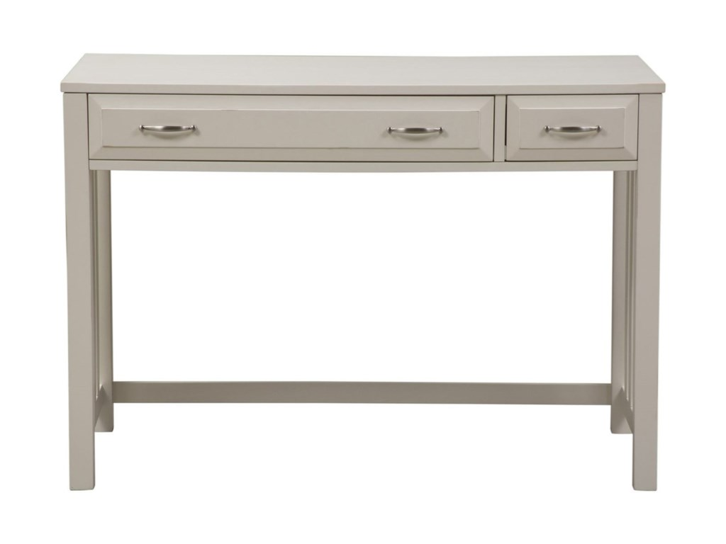 Hampton Bay - White Writing Desk with Drawers by Liberty Furniture at  Wayside Furniture