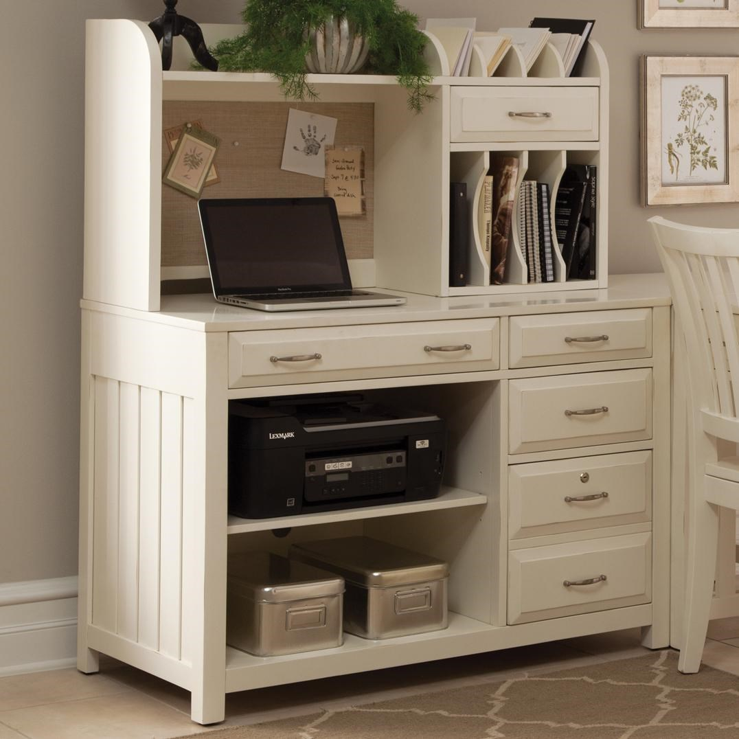 Charmant Liberty Furniture Hampton Bay   White Credenza Desk And Hutch