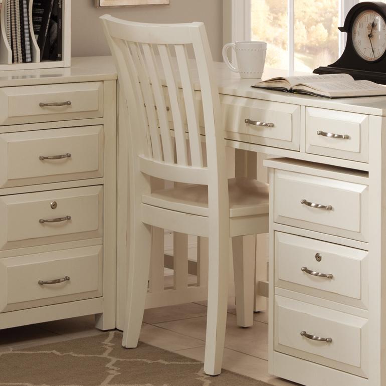 Liberty Furniture Hampton Bay   White School House Desk Chair