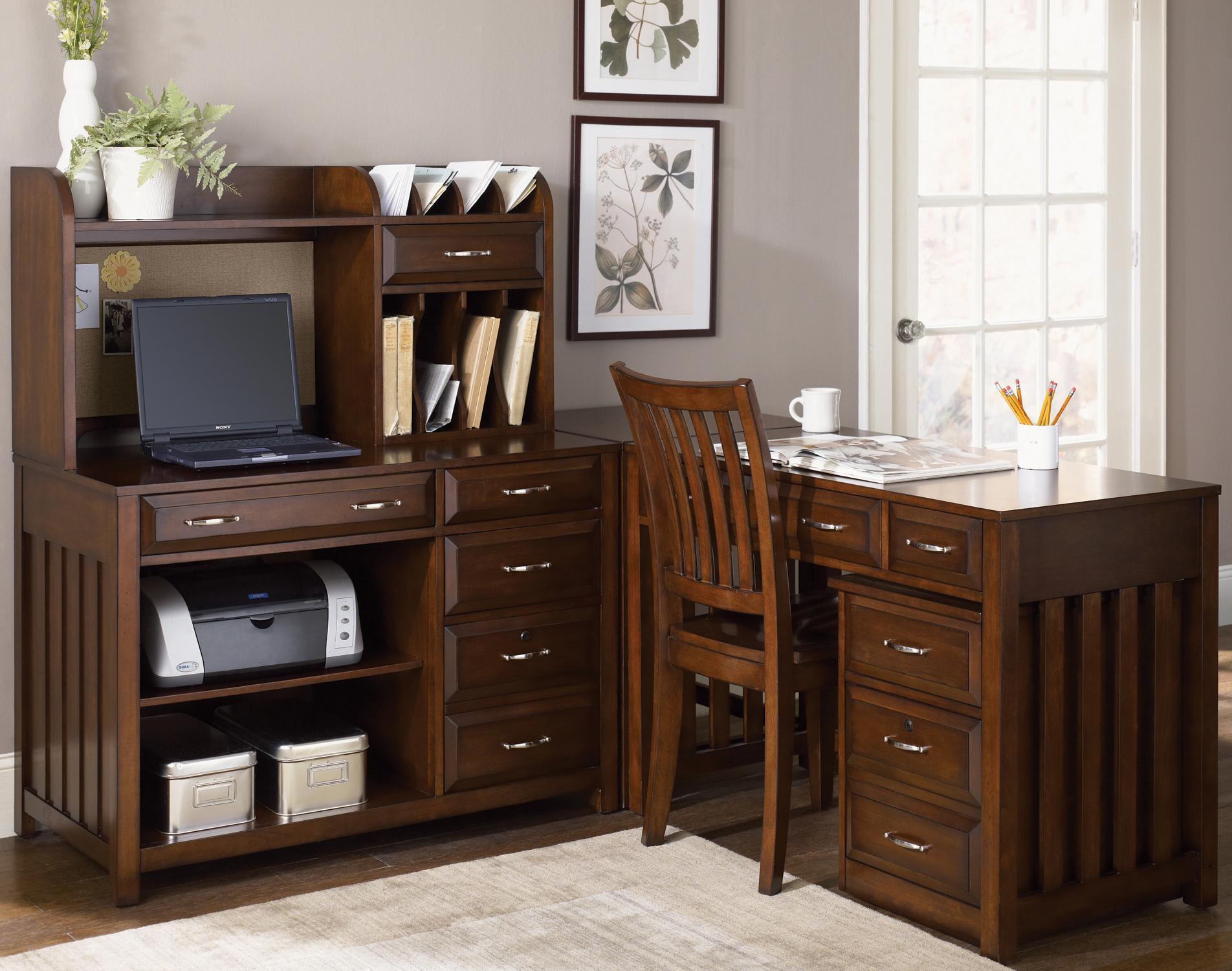 5 Piece L-Shaped Desk and File Cabinet Unit