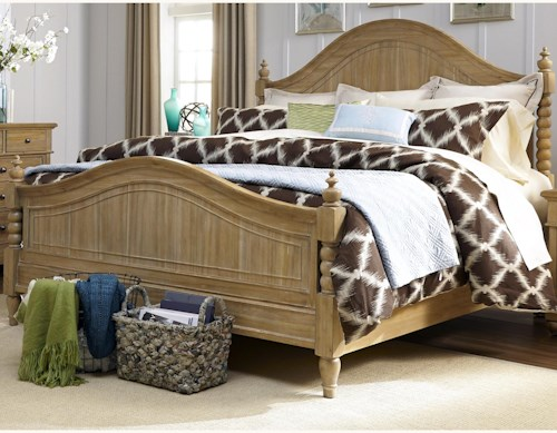Liberty Furniture Harbor View King Poster Bed with Barley Twist Accents