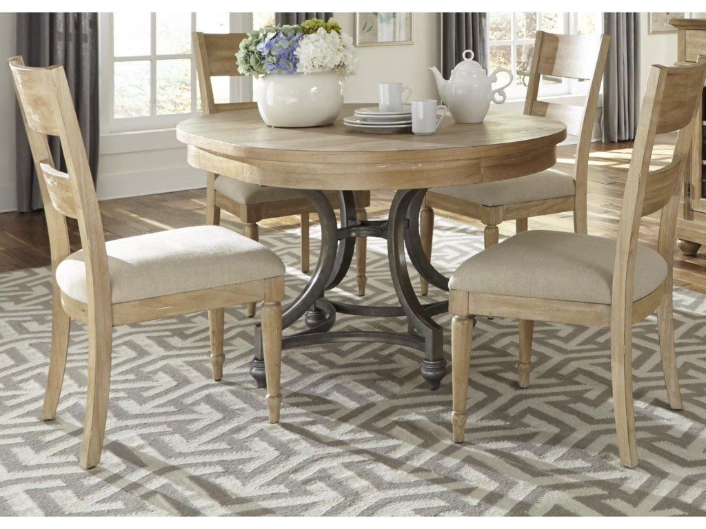 Liberty Furniture Harbor ViewRound Table and Chair Set
