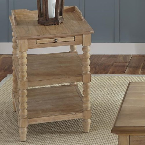 Liberty Furniture Harbor View Rustic Casual Chairside Table