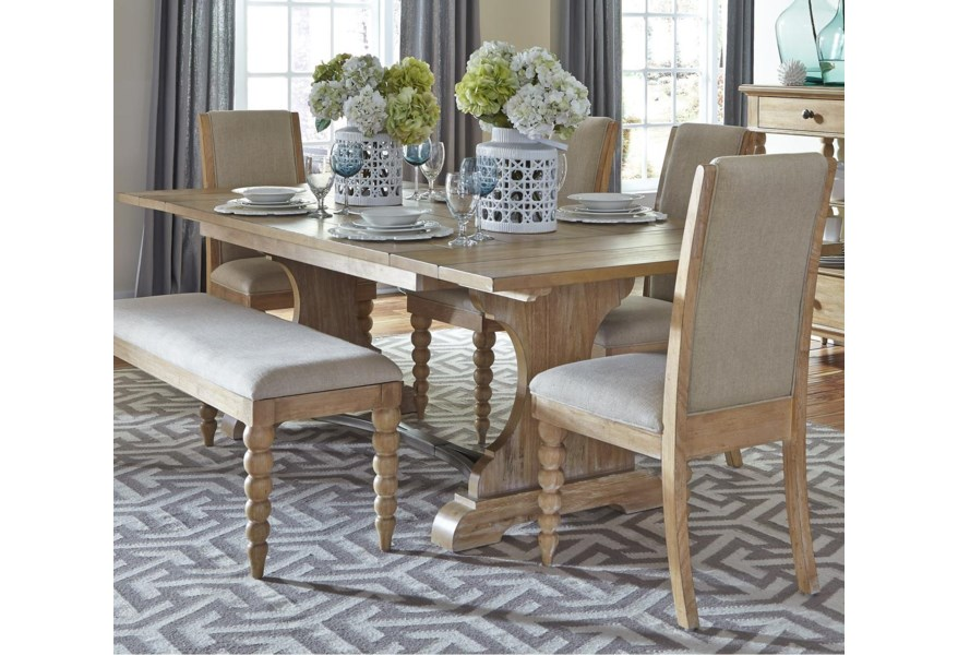 Harbor View Trestle Dining Table with 2 Nine Inch Leaves by Liberty  Furniture at Standard Furniture