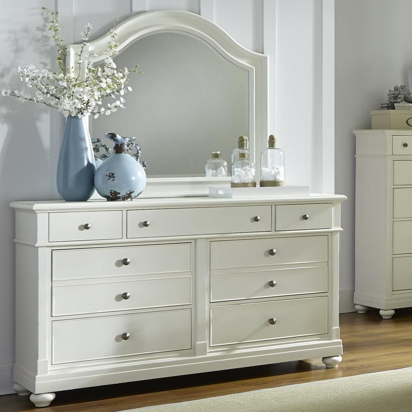 Liberty Furniture Harbor View Dresser With 7 Drawers And Arched