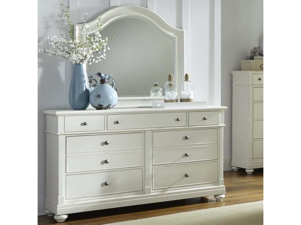 Liberty Furniture Harbor ViewDresser with Mirror