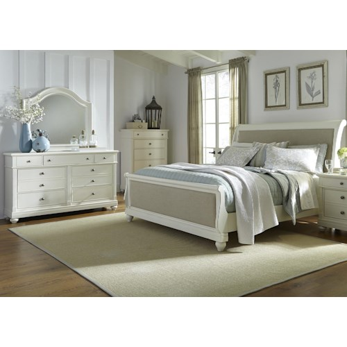 Liberty Furniture Harbor View King Sleigh Bedroom Group
