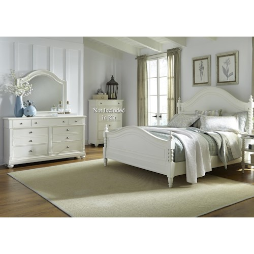 Liberty Furniture Harbor View Queen Poster Bedroom Group
