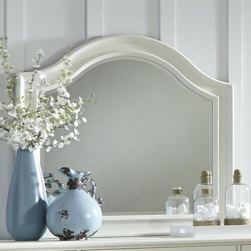 Liberty Furniture Harbor View Mirror with Arched Top