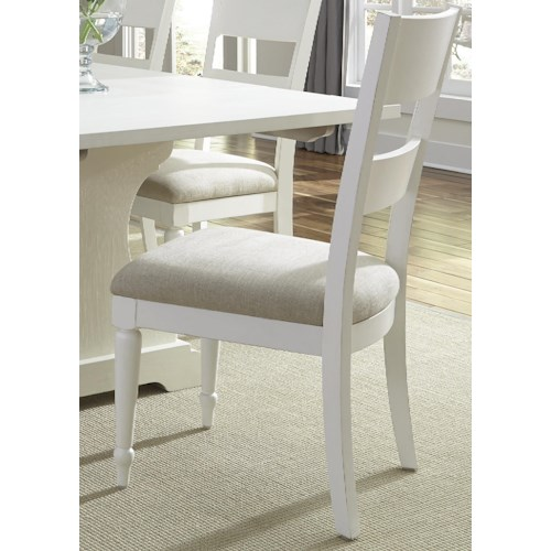 Liberty Furniture Harbor View Dining Side Chair with Slat Back