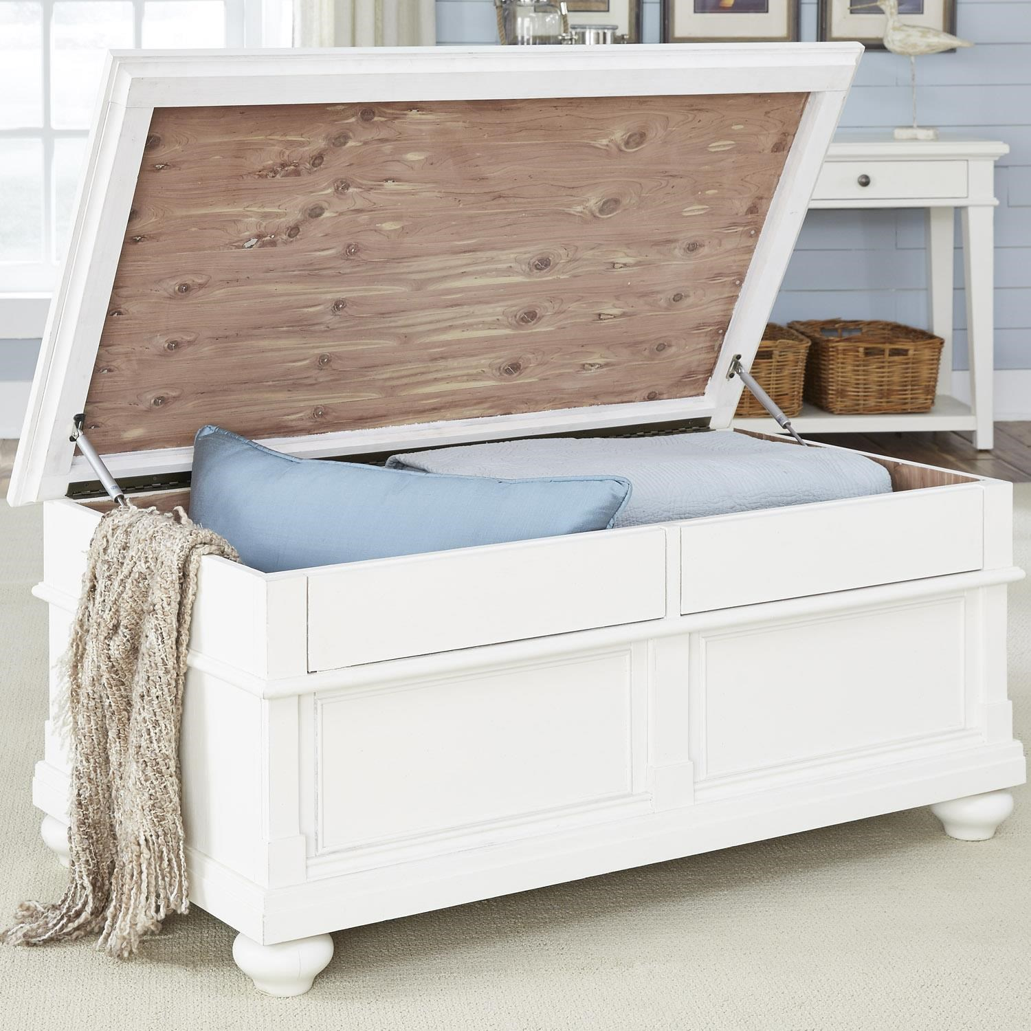 liberty furniture harbor view cedar lined storage trunk