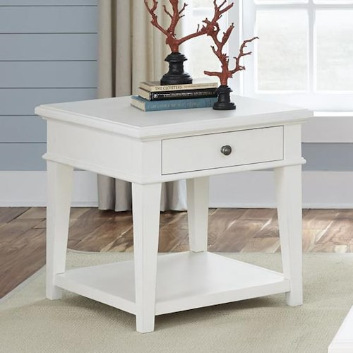 Liberty Furniture Harbor View Rustic Casual End Table with One Drawer