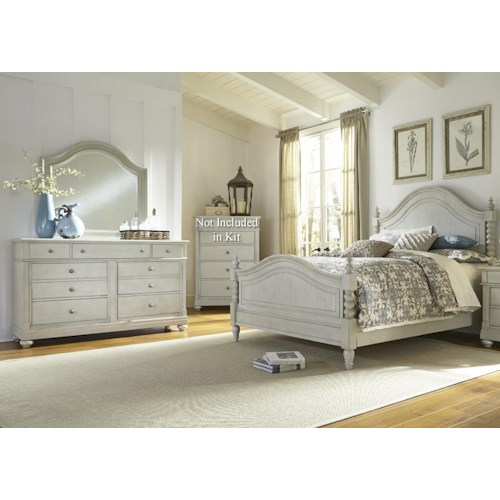 Liberty Furniture Harbor View King Poster Bedroom Group