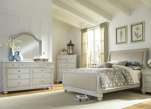 Liberty Furniture Harbor View Queen Sleigh Bedroom Group