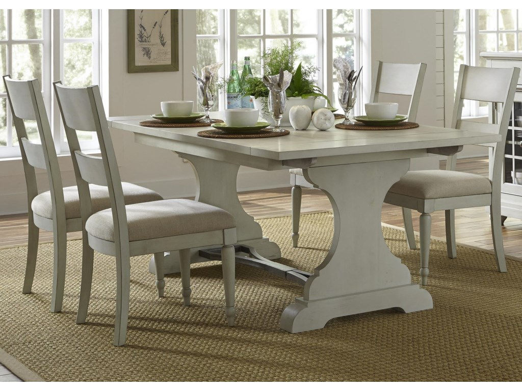 Liberty Furniture Harbor ViewTrestle Table and Chair Set
