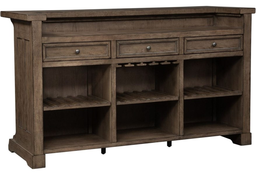 Liberty Furniture Harvest Home Relaxed Vintage Bar With Bottle Storage Lindy S Furniture Company Bars