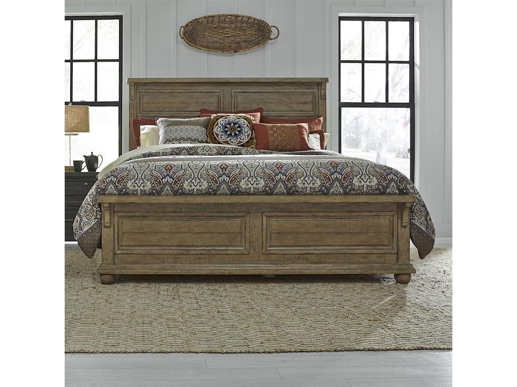 Liberty Furniture Harvest HomeKing Panel Bed