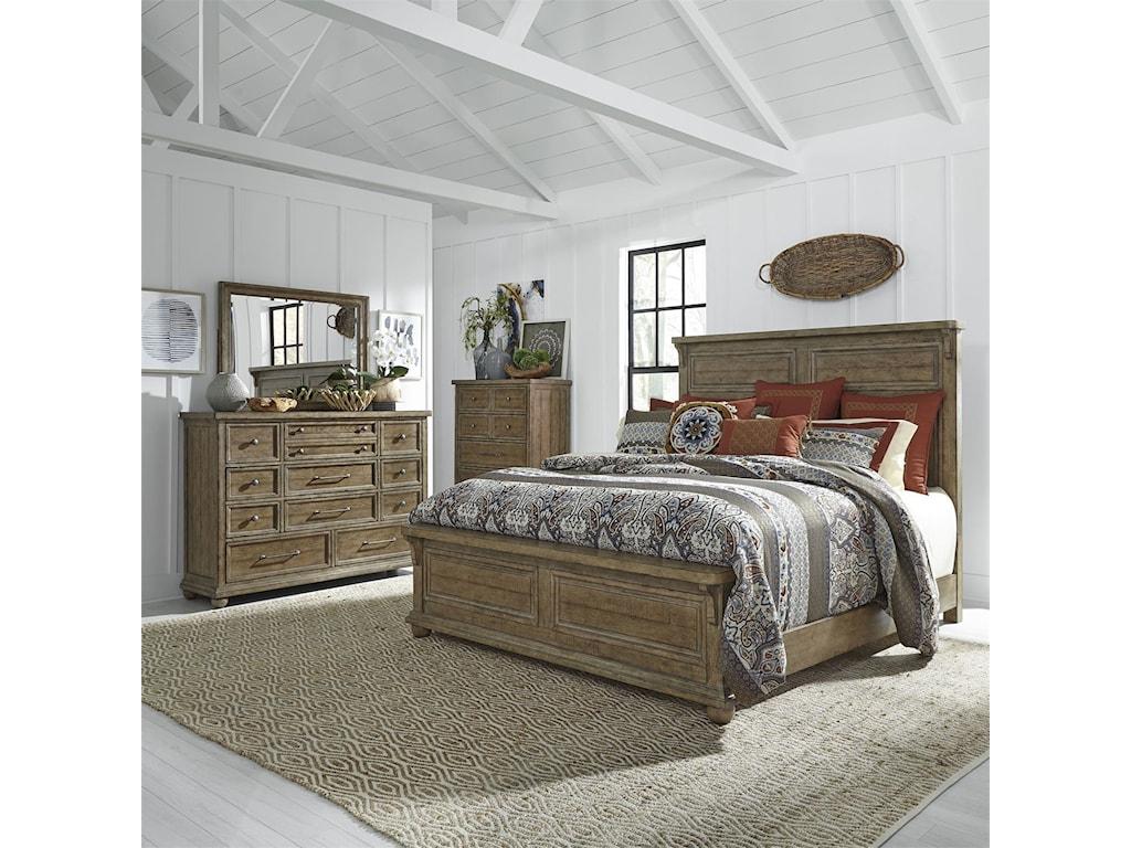 Liberty Furniture Harvest HomeQueen Bedroom Group