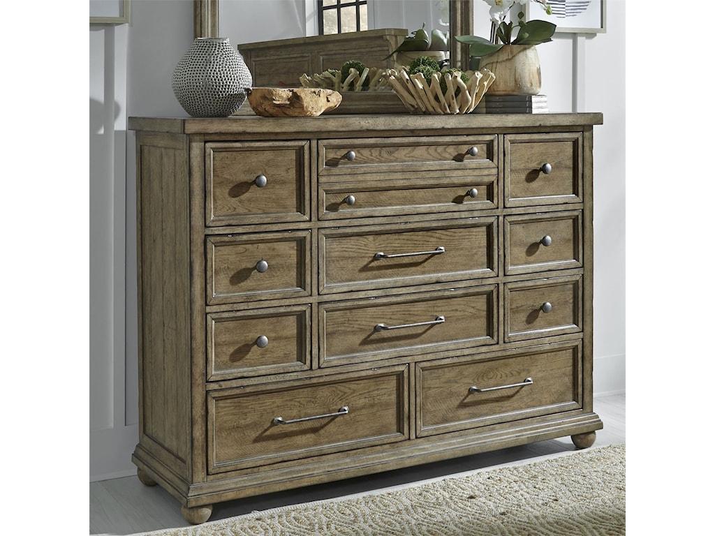 Liberty Furniture Harvest Home Relaxed Vintage 11 Drawer Dresser