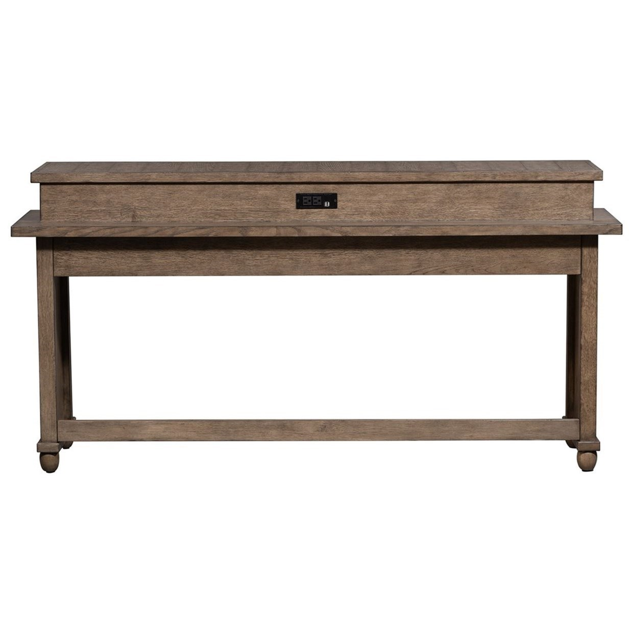 Relaxed Vintage Console Bar Table with Charging Station