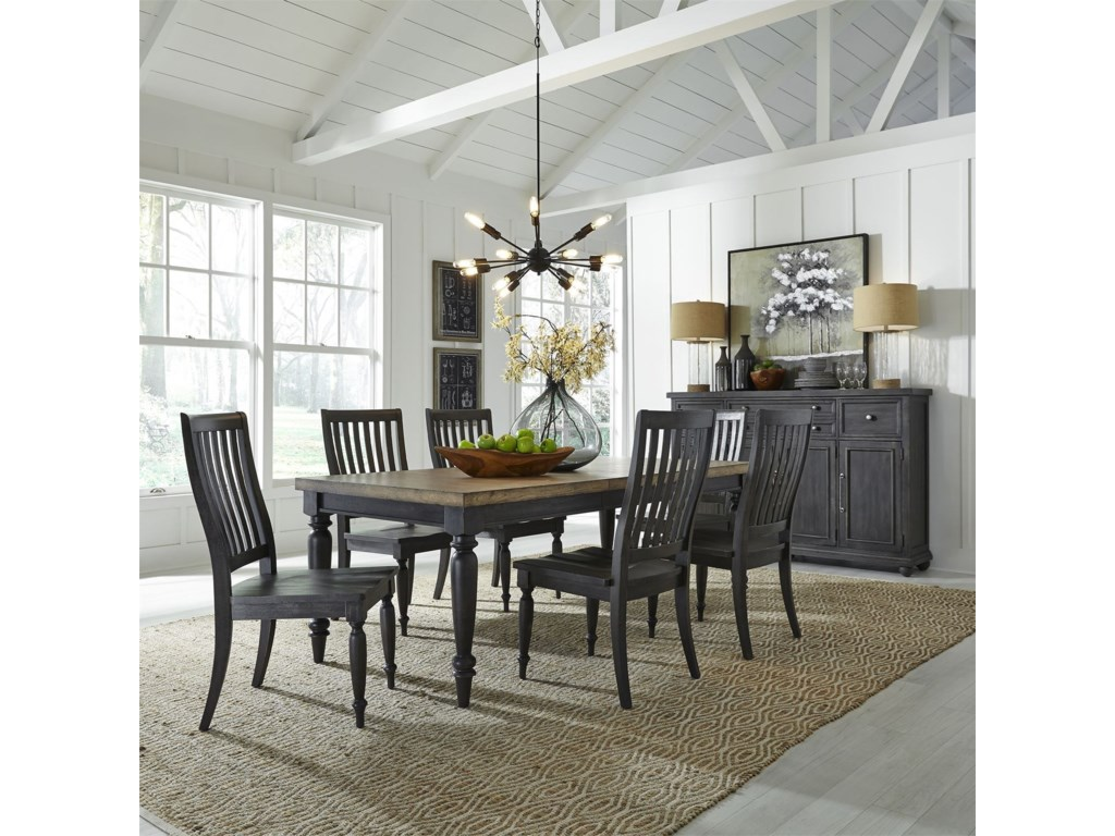Liberty Furniture Harvest Home Formal Dining Room Group