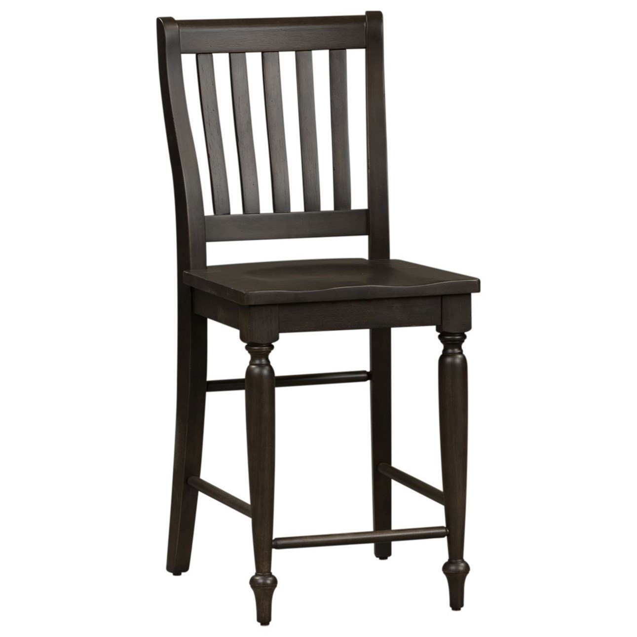 Relaxed Vintage Slat Back Counter Chair