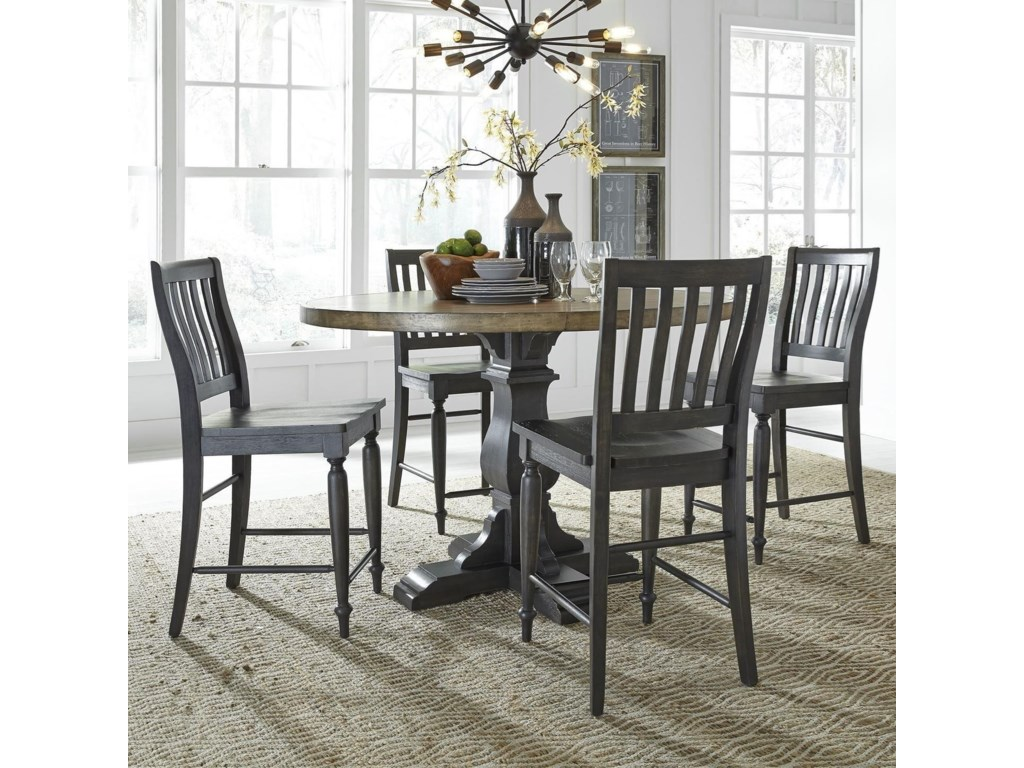 Liberty Furniture Harvest Home5-Piece Gathering Table Set