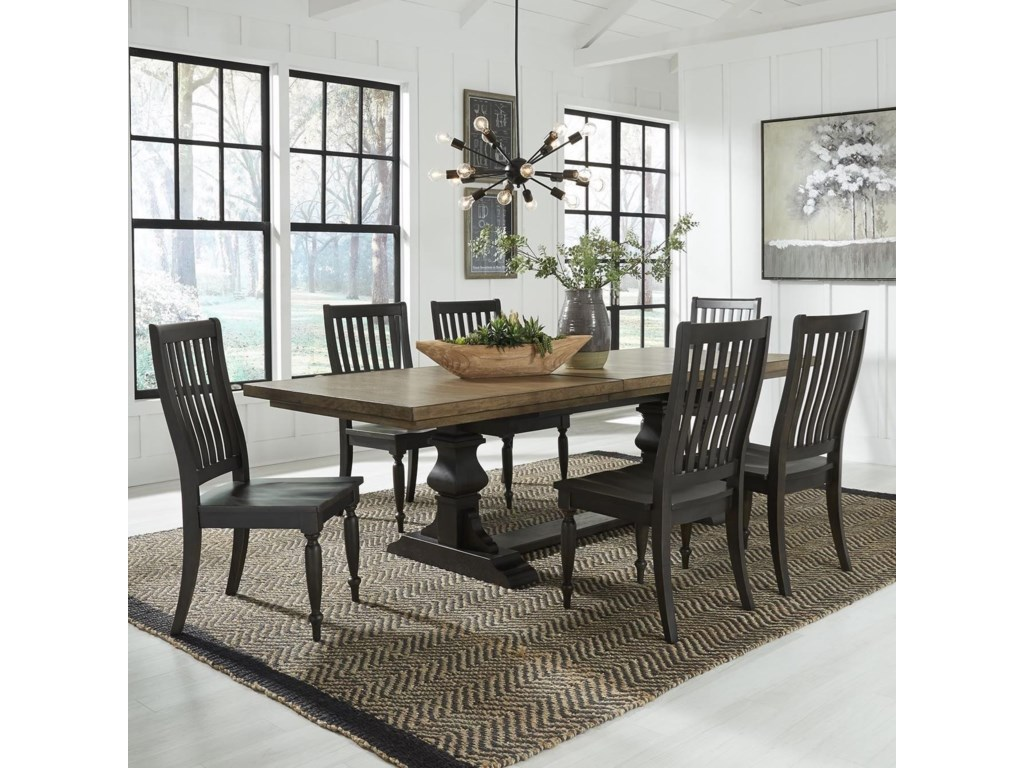 Liberty Furniture Harvest Home7-Piece Trestle Table Set
