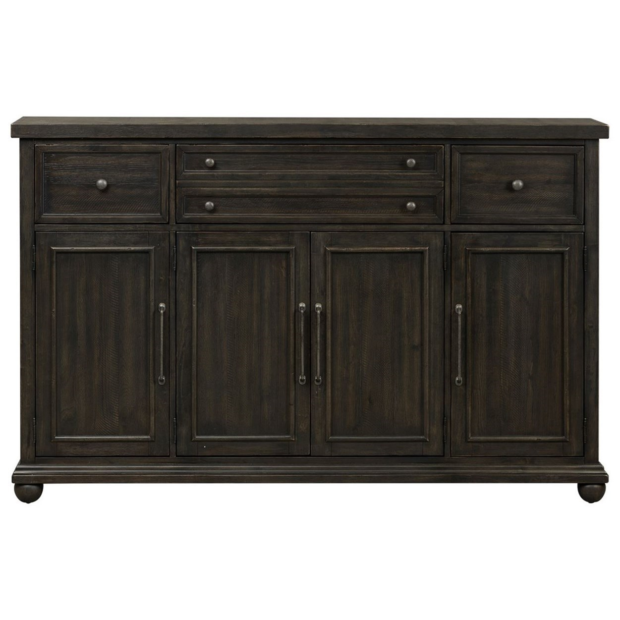 Relaxed Vintage Hall Buffet with Metal Hardware