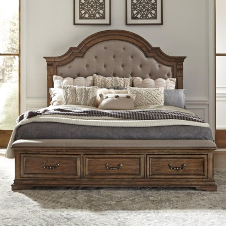 King Upholstered Storage Bed