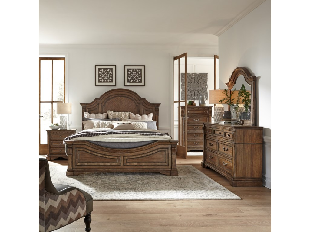Liberty Furniture Haven HallQueen Panel Bed