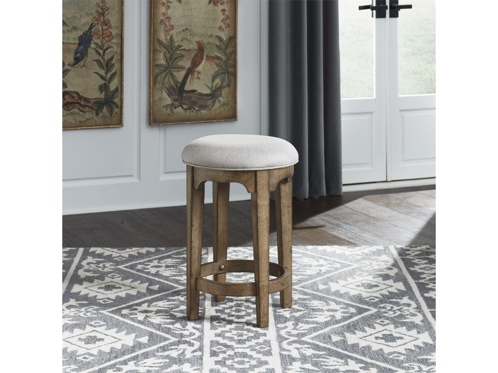 Liberty Furniture Haven HallUpholstered Console Stool