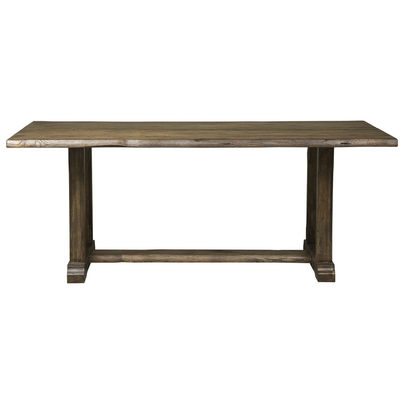 Havenbrook Casual Trestle Table With Live Edge By Liberty Furniture